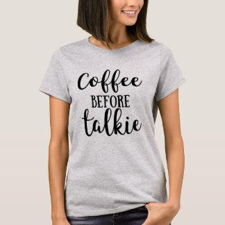 Camiseta Café antes de la película hablada