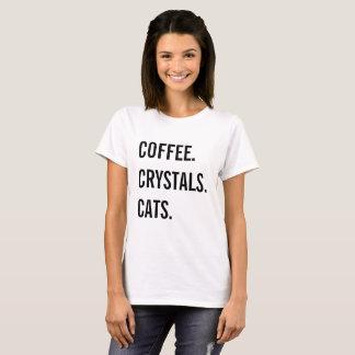 Camiseta Café, cristales, gatos