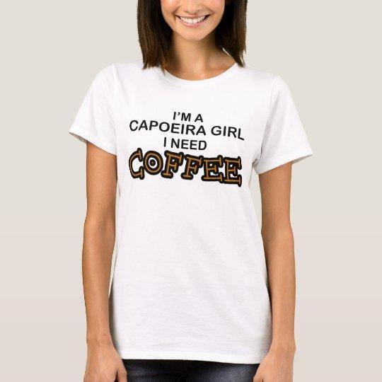 Camiseta Café de la necesidad - chica de Capoeira