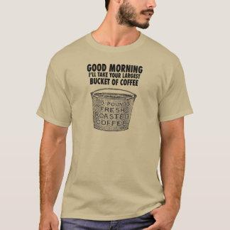 Camiseta Café por el cubo