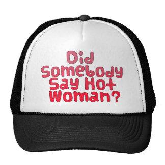 Camiseta caliente divertida de la mujer gorras