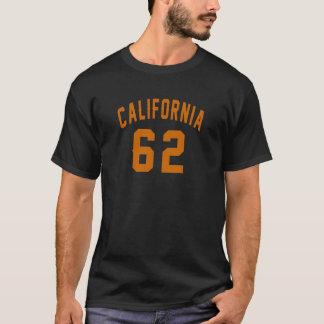 Camiseta California 62 diseños del cumpleaños
