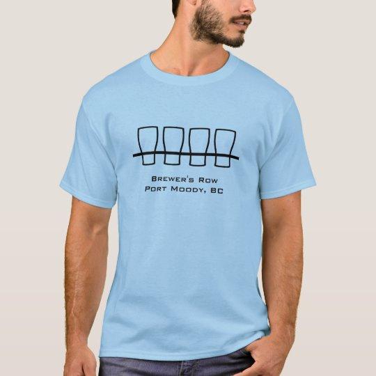 Camiseta 🍺 cambiante del puerto de cervecero de la fila