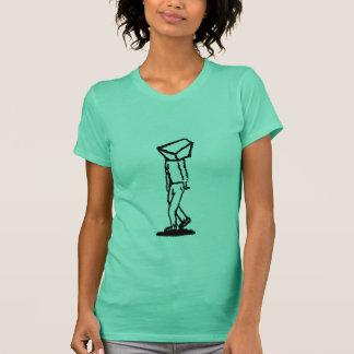 Camiseta caminante del cubo en verde