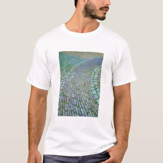 Camiseta Camino holandés del ladrillo del espiral de la