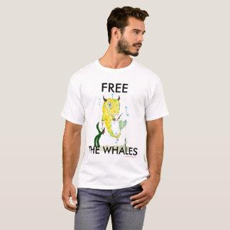 """Camiseta """"Camiseta blanca de la ballena del lunar"""""""