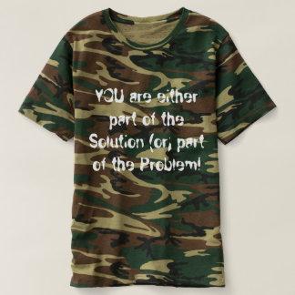 Camiseta ¡Camiseta de Camoflauge de los hombres que