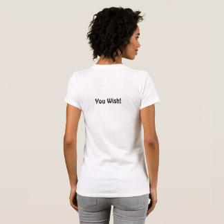 Camiseta ¡Camiseta de Snarky! Agradable en frente. Del