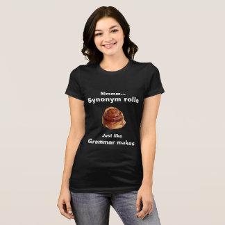 "Camiseta ""Camiseta del rollo del sinónimo"""