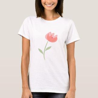 Camiseta Camiseta, los pétalos color de rosa