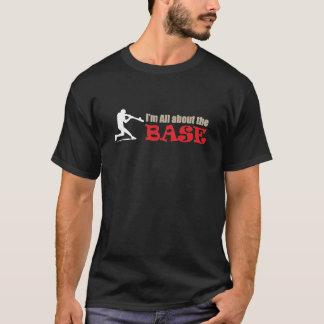 Camiseta ¡Camisetas gráficas del béisbol - todo sobre la
