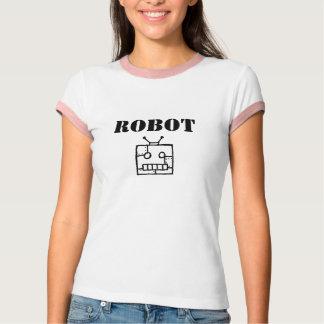 Camiseta Campanero del robot de las mujeres