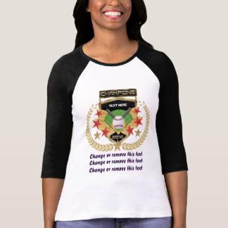 Camiseta Campeón del softball Delantero-Detrás