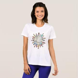 Camiseta Campo de la fuerza de las nuevas mujeres para la