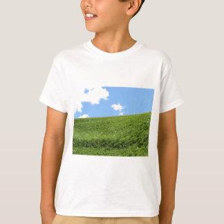 Camiseta Campo herboso en la colina del balanceo contra el