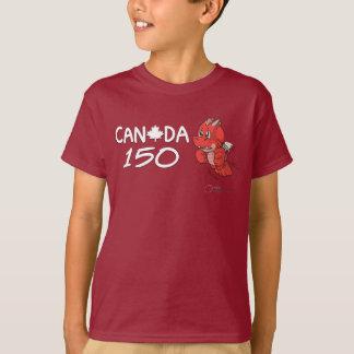 Camiseta Canadá 150 - El dibujo animado del dragón de