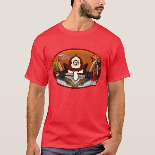 Camiseta candente de Kilroy del bombero