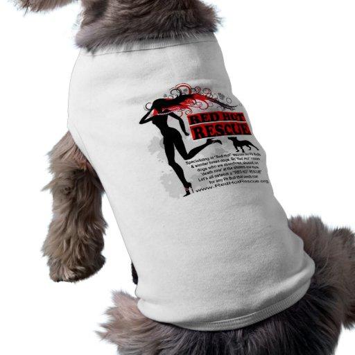 Camiseta candente del perrito del rescate camisetas mascota