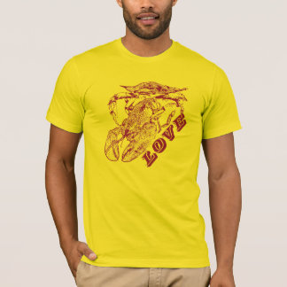 """Camiseta """"Cangrejo, langosta, amor."""" - Para hombre"""