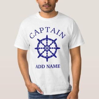 Camiseta Capitán del barco (personalice a Name de capitán)