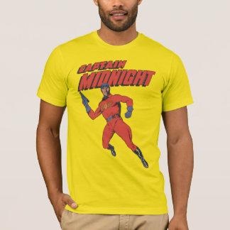 Camiseta Capitán Midnight del super héroe del vintage