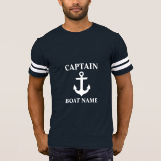 Camiseta Capitán náutico Boat Name Anchor FB
