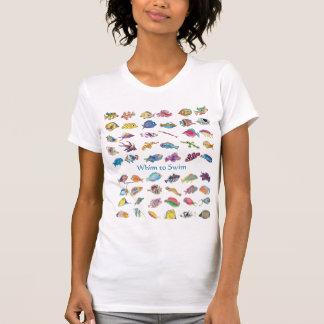 Camiseta Capricho para nadar pescados del dibujo animado