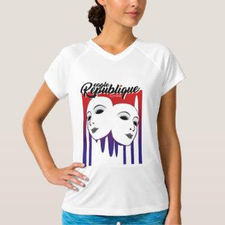 Camiseta Cara de la máscara de la república de Eagle