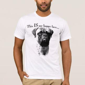 Camiseta Cara feliz de Bullmastiff