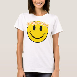 Camiseta Cara feliz del Hippie