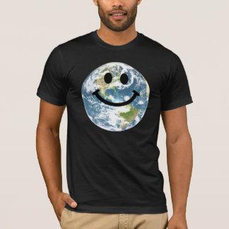 Camiseta Cara feliz del smiley de la tierra