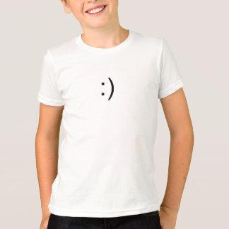 Camiseta Cara Geeky de la sonrisa del ordenador