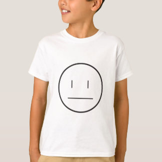 Camiseta cara indiferente