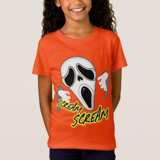 Camiseta Cara paranormal de griterío fantasmagórica