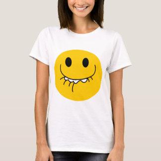 Camiseta Cara sonriente amarilla de risa suprimida