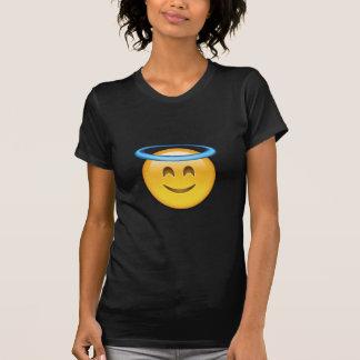 Camiseta Cara sonriente con el halo Emoji