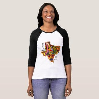 Camiseta Caras coloridas del estado de Tejas de la libertad