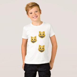 Camiseta caras de la sonrisa del emoji
