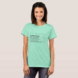 Camiseta Carbohidratos: La trayectoria al T de las señoras