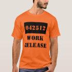 Camiseta Cárcel del lanzamiento del trabajo del regalo de