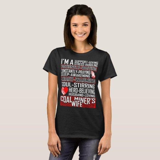 Camiseta cariñosa de la esposa del minero de