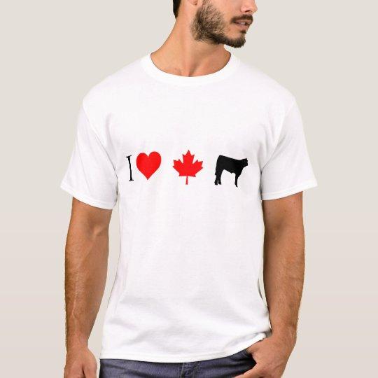 Camiseta Carne de vaca del canadiense del corazón I