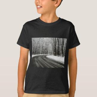 Camiseta Carretera con curvas curvada nieve