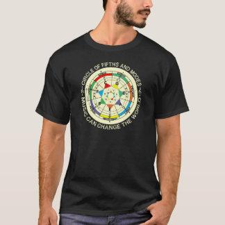 Camiseta Carta de modos de la música y círculo de quintos