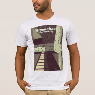 Camiseta Cartel del viaje de Manhattan New York City