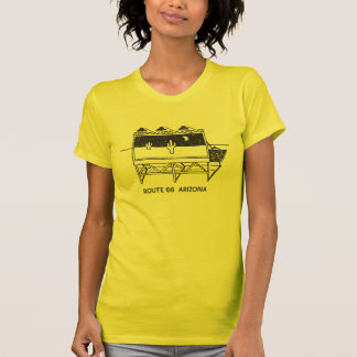 Camiseta Cartelera del cactus en la ruta 66 en Arizona