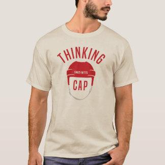 Camiseta Casquillo de pensamiento del casco del hockey