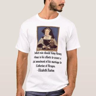 Camiseta Catherine de Aragón, predigo ruina si el rey…