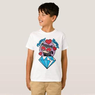 Camiseta Catwoman de Chibi que se sienta encima de diamante