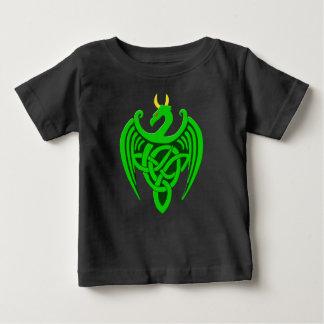 Camiseta céltica verde del bebé del dragón